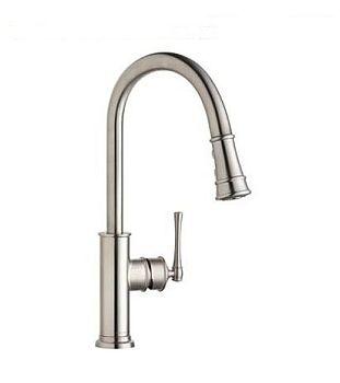 Elkay LKEC2031LS Explore Pullout Spray Single Handle Kitchen Faucet - Lustrous Steel
