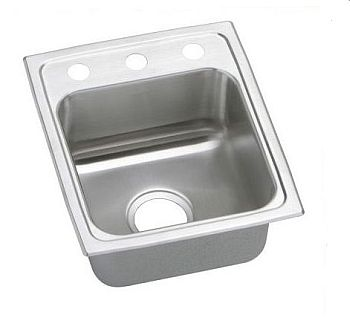 Elkay PSR15171 Gourmet (Pacemaker) Stainless Steel Single Bowl Top Mount Bar Sink - 1 Hole