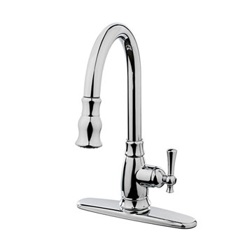 Estora 10-51111 Varismo Single Handle Pull Down Kitchen Faucet - Chrome