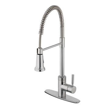 Estora 15-51121-SS Forza Single Handle Pull Down Kitchen Faucet - Stainless Steel