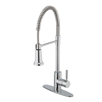 Estora 15-51121 Forza Single Handle Pull Down Kitchen Faucet - Chrome