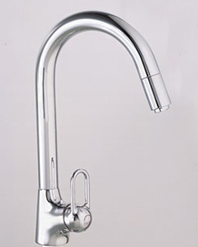 Franke FF-1100 Value Line Single Handle Gooseneck Pull Down Faucet - Chrome