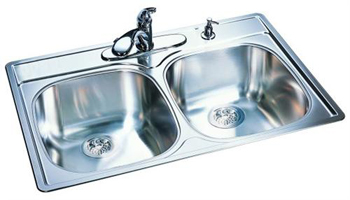 Franke DSK854-BX Double Bowl Kitchen Sink - Stainless Steel