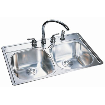 Franke DSK954-18BX Double Bowl Kitchen Sink - Stainless Steel ...