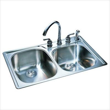 Franke OSK954-BX Offset Double Bowl Kitchen Sink - Stainless Steel