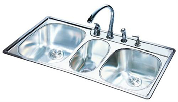 Franke OTSK954-BX Triple Bowl Kitchen Sink - Stainless Steel