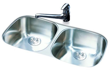 Franke UDSK900-18 Double Bowl Kitchen Sink Undermount - Stainless Steel