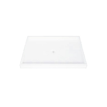 Florestone 4234-1-WHT Molded Shower Receptor with Edge - White