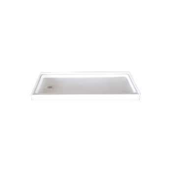 Florestone 3460F-WHT 34 in X 60 in Molded Fiberglass Shower Receptor with the Edge - White