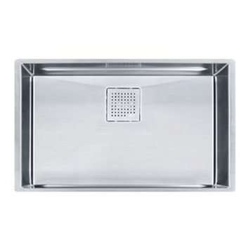 Franke PKX11028 Peak 16-Inch x 27-Inch Single Bowl Undermount Kitchen Sink - Stainless Steel