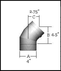 FasNSeal 45 Degree Elbow - FSELB4504