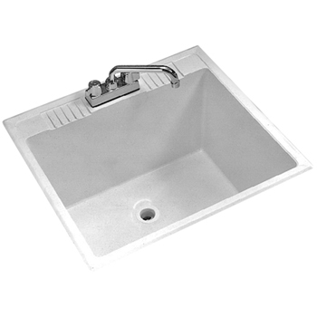 Stone Laundry Sink : Fiat DL1 Molded Stone Laundry Tub - White - FaucetDepot.com