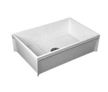 Fiat MSB3624 Molded Stone Map Basin - White