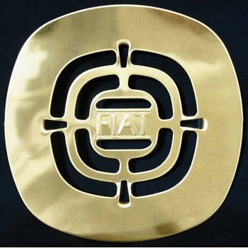 Fiat STRWLPB000 Grid Shower Drain Plate - Polished Brass