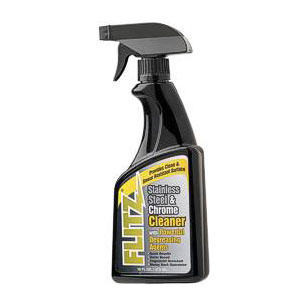 Flitz Stainless Steel & Chrome Cleaner With Degreaser - 16 oz (473 ml)