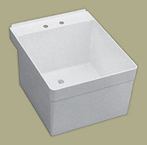 Florestone 20WM-1 Wall Mount Utility Sink with 1 Faucet Hole - White