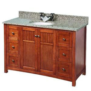 Foremost KNCA4821D Knoxville 48? Vanity Cabinet Only - Nutmeg