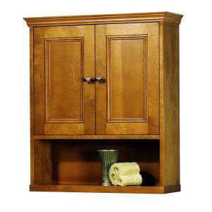 Foremost TRIW2427 Exhibit Wall Cabinet - Rich Cinnamon
