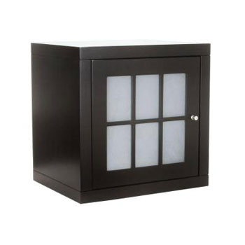 Foremost ZEEW1814 Zen Stackable Cube with Glass Door - Espresso
