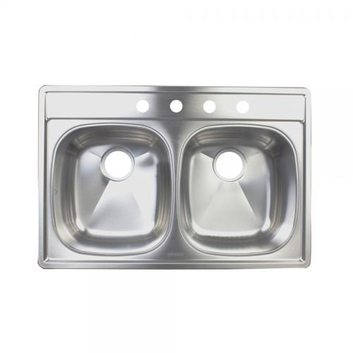 Franke DSKD954-18BX Double Bowl Topmount Kitchen Sink - Stainless Steel