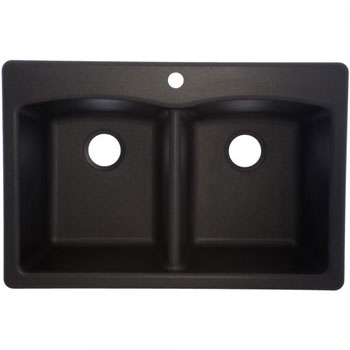 Franke White Composite Sink : Franke EDOX33229-1 Double Bowl Composite Kitchen Sink - Onyx ...