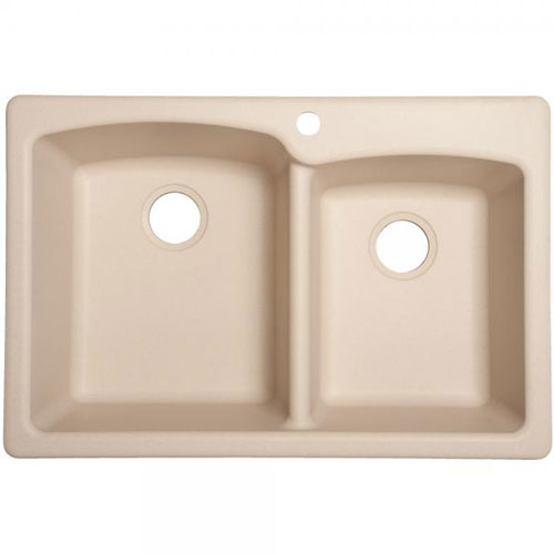 Franke EOCH33229-1 Double Bowl Composite Kitchen Sink - Champagne