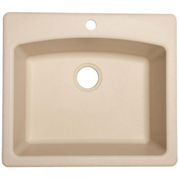 Franke White Composite Sink : Franke ESCH25229-1 Single Bowl Composite Kitchen Sink - Champagne ...