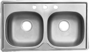 Franke FMSB654NB Double Bowl Modular Housing Kitchen Sink - Stainless Steel