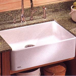 Franke MHK-110-24 Fireclay Single Bowl Farmhouse with Apron Kitchen Sink - White