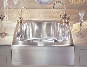 Franke MHX-710 Manor House Single Bowl Apron Front Stainless Steel Kitchen Sink