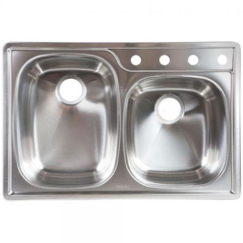Franke Oskd954 18bx Double Bowl Topmount Kitchen Sink