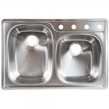 Franke OSKD954-18BX Double Bowl Topmount Kitchen Sink - Stainless Steel
