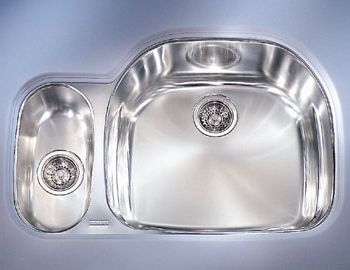 Franke PCX-160-LH Double Bowl Undermount Stainless Steel Kitchen Sink