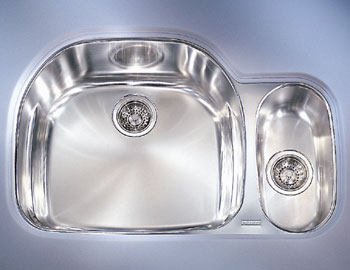 franke pcx 160 rh double bowl undermount stainless steel kitchen sink - Kitchen Sinks Franke