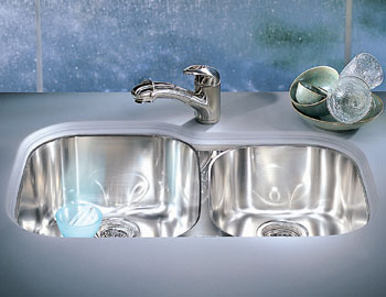 Franke RGX-160 Regatta Double Bowl Undermount Stainless Steel Kitchen Sink
