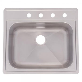 Franke SSKD104NB Single Bowl Topmount Kitchen Sink - Stainless Steel