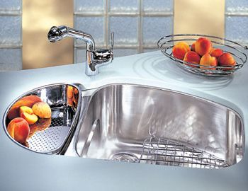 Franke VNX-160-LH Vision Stainless Steel Undermount Double Bowl Kitchen Sink