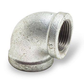 1/2 inch Malleable Iron Pipe Fittings 90 degree Elbow - Galvanized