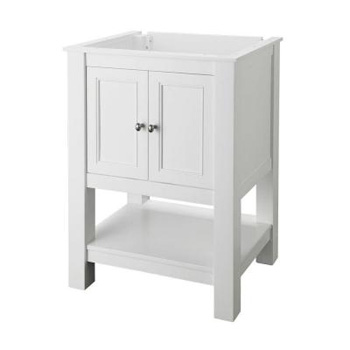 Foremost GAWA2418 Gazette 24 in. W x 18 in. D Vanity Cabinet Only - White