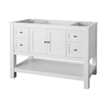 Foremost GAWA4822D Gazette 48 in. Vanity Cabinet Only - White