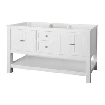 Foremost GAWA6022D Gazette 60 in. Vanity Cabinet Only - White