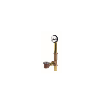 Gerber 81-827 Brass trip-lever bath drain, All-tub drain in tee
