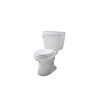 Gerber WS-21-502 Viper Round Front 2 Piece Toilet - White