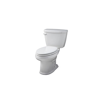 Gerber WS-21-510 Viper Elongated Front Two-Piece Toilet - White