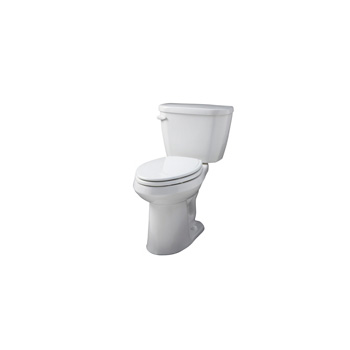 Gerber WS-21-518 Viper ErgoHeight Elongated 2 Piece Toilet - White
