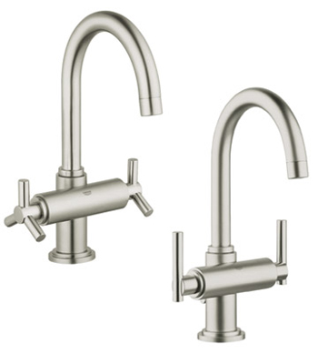 Grohe 21.027.ENE Atrio WaterCare High Spout Lavatory Centerset Faucet - Infinity Brushed Nickel