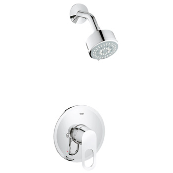 Grohe 27547000 BauLoop Shower Only Valve Trim with Multi Function Showerhead - Starlight Chrome
