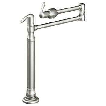 Grohe 31076SD0 Ladylux3 Deck Mount Pot Filler - Stainless Steel