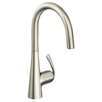 Grohe 32.226.DCE Ladylux3 Main Sink Dual Spray Pull-Down Faucet - Super Steel