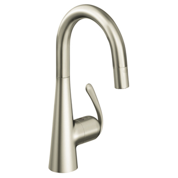 Grohe 32.283.DCE Ladylux3 WaterCare Prep Sink Dual Spray Pull-Down Faucet - Super Steel